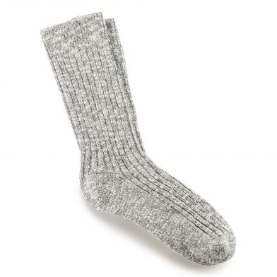 Birkenstock Cotton Slub Ladies Grey Sock
